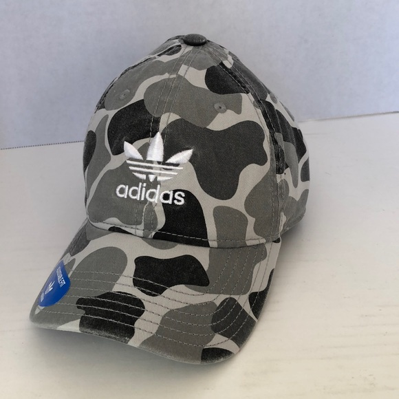 hot product official images best sale Adidas originals distressed camo trefoil hat NWT! NWT
